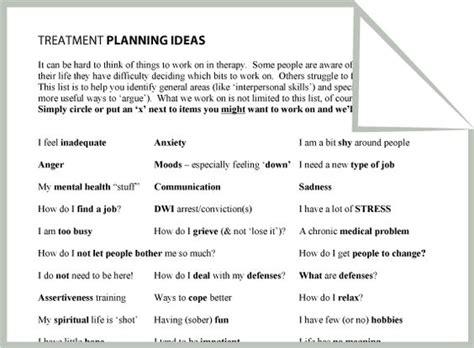 treatment plan template social work mental health treatment planning ideas worksheet