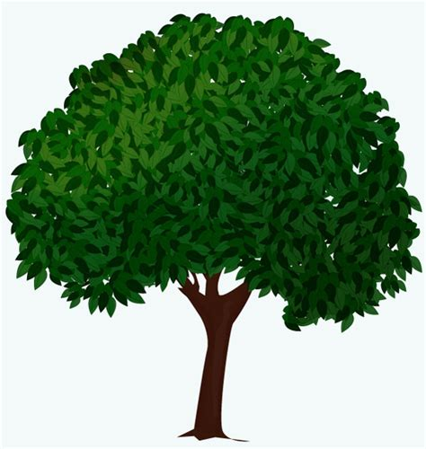 tree drawing tool create a vector tree with custom brushes and the gradient
