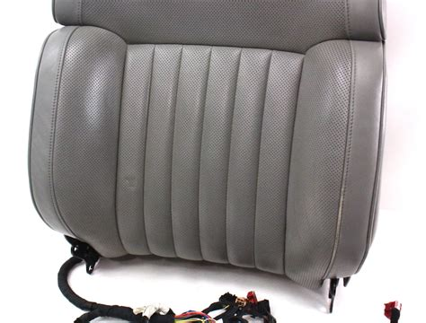 volkswagen phaeton back seat lh front grey leather seat back rest 04 06 vw phaeton
