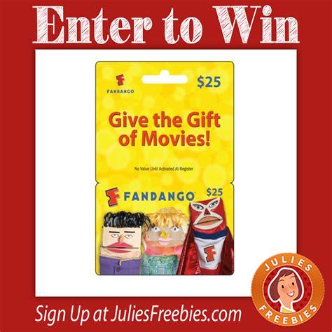 25 Fandango Gift Card - win a 25 fandango gift card julie s freebies