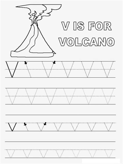 V Words Coloring Page by Letter V Worksheets To Print Activity Shelter