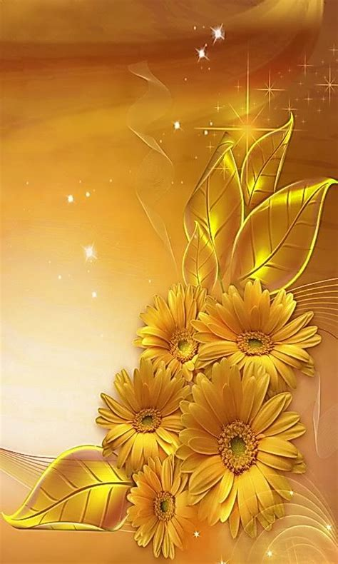 Mawar Kuning 1 golden flowers wallpapers to your cell phone flower golden leaves 19170226 zedge