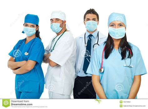 Background Check For Healthcare Workers Healthcare Workers With Protective Mask Stock Photography