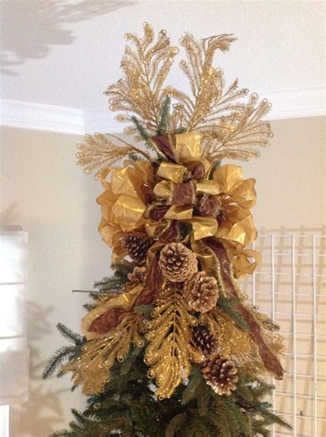 christmas tree topper glamorous golds this would make