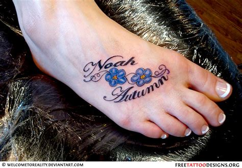 foot tattoo designs with names foot gallery
