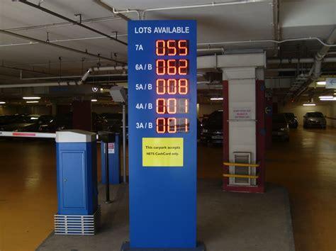 digital parking lot light timer led car park guidance display system