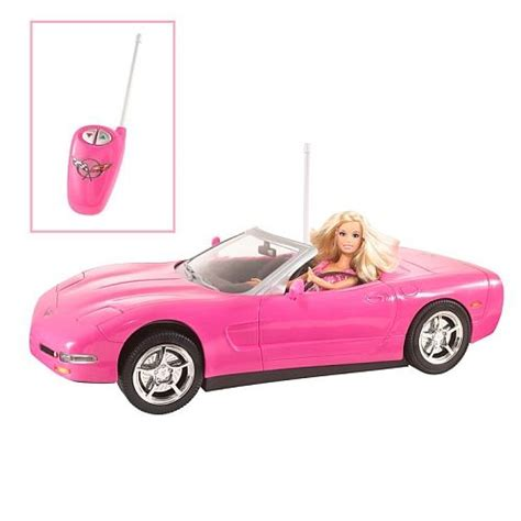 barbie corvette barbie kidpicks remote control corvette and barbie doll