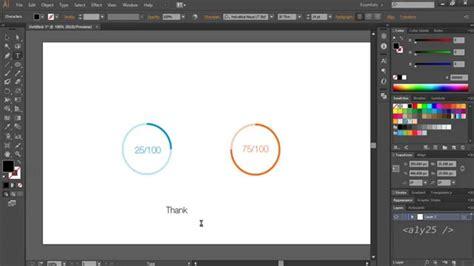 illustrator ui tutorial illustrator cc ui design circular percentage meter