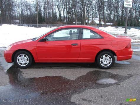 rallye red 2001 honda civic lx coupe exterior photo