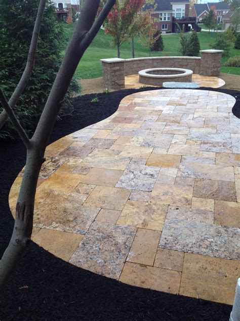 Travertine Backyard by Patios Travertine Marble Smithscapes
