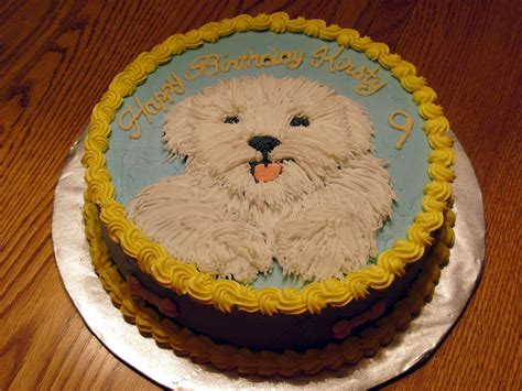 puppy cakes themed birthday cake cake pictures