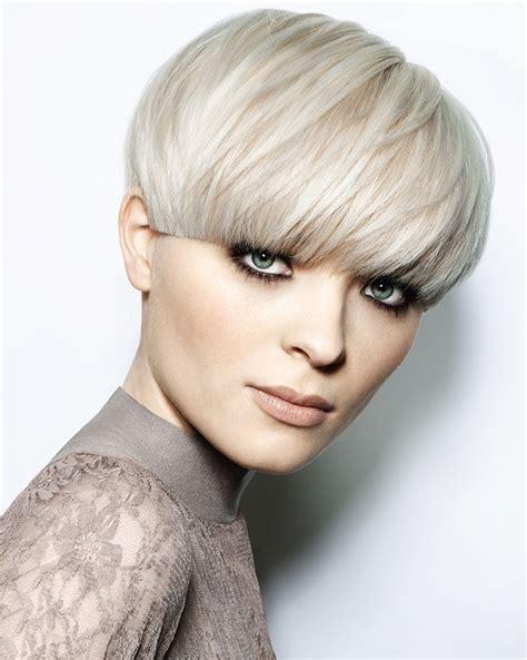 white hair trendy hair styles short blonde straight coloured bowl cut white bob womens
