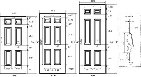 Door Dimentions Door Dimensions U0026 Standard Outside Standard Exterior Door Dimensions