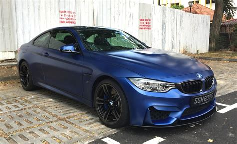 modified bmw m4 stunner custom frozen blue bmw m4