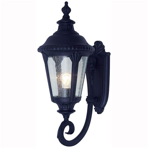 Coach Lights Outdoor Bel Air Lighting Way 1 Light Outdoor Black Coach Lantern With Seeded Glass 5040 Bk The