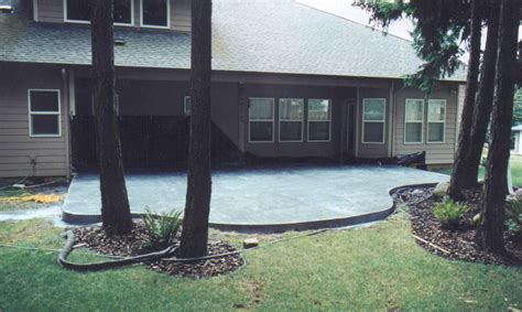 backyard concrete slab ideas concrete patio designs concrete patio ideas custom patios staining concrete patio