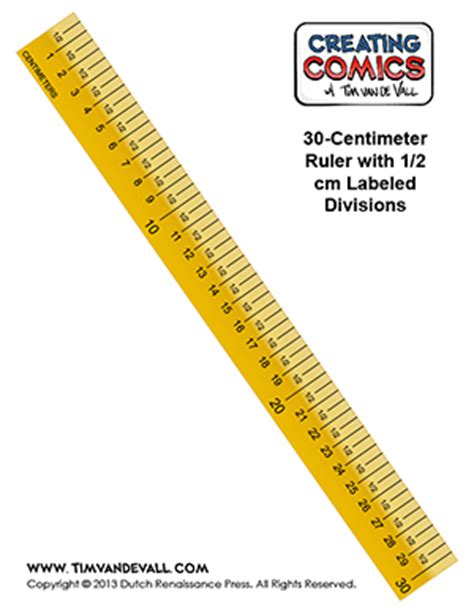 printable paper ruler pdf free centimeter ruler template creating comics