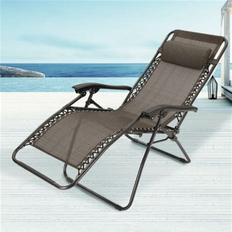 Reclining Sun Chairs by Reclining Sun Bed Chair With Padded Rest Grey