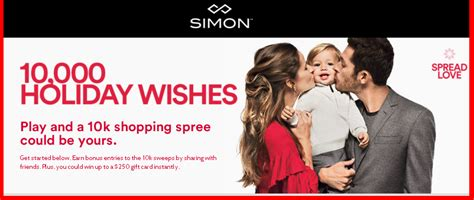 Win Gift Cards Online Instantly - simon win 10 000 in simon gift cards and more instant prizes by giveawayus com
