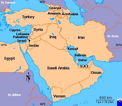 middle east map azerbaijan middle east