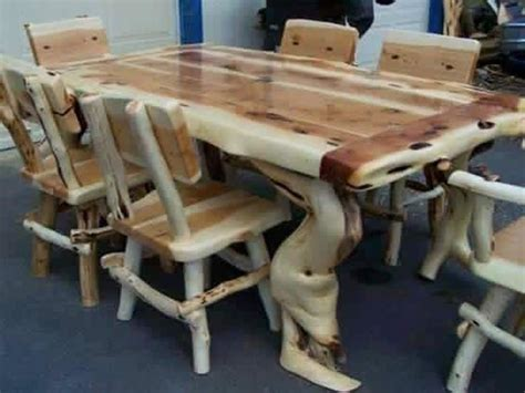 log kitchen tables 24 awesome rustic wooden furniture ideas