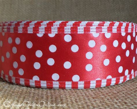 clearance wired polka dot ribbon 1 1 2 red with random