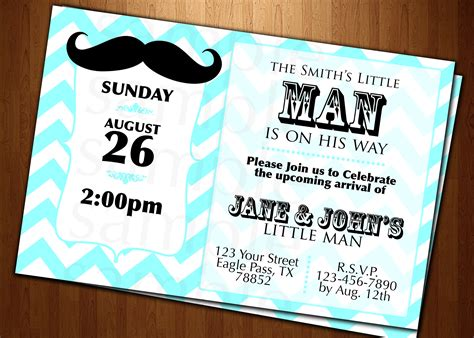 mustache invitations for baby shower baby shower mustache invitation cards custom