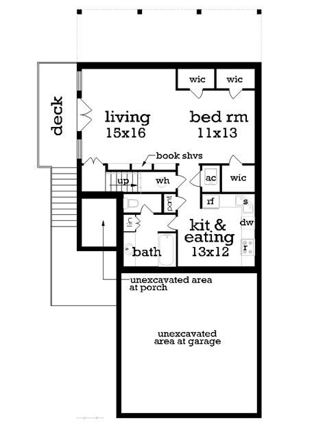 finished basement floor plans cottage house plan with 2 bedrooms and 2 5 baths plan 1162