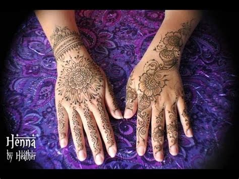 henna tattoo mandala on the hand youtube