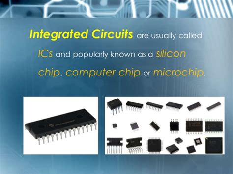 integrated circuits are electronic circuits formed on a single chip science and du foundation course powerpoint presentation integra