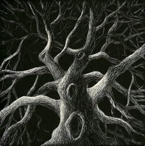 Tree scratchboard 5 quot x5 quot scratchboard drawing