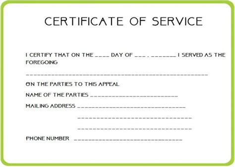 24 certificate of service templates for employees formats