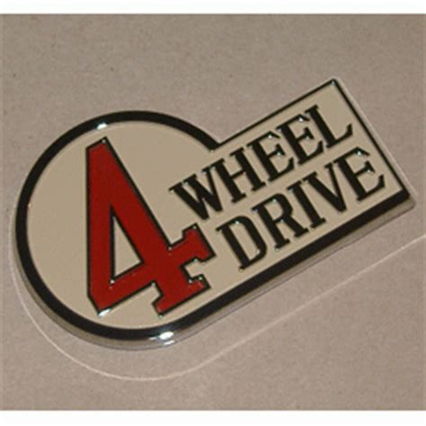 Emblem 4 Wheel Drive 79 84 land cruiser fj40 bj42 4wd emblem