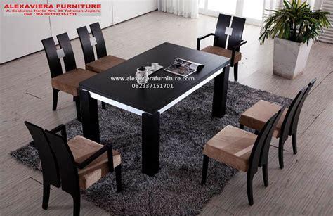 Meja Makan Set Murah set kursi makan minimalis jati jepara alexaviera furniture