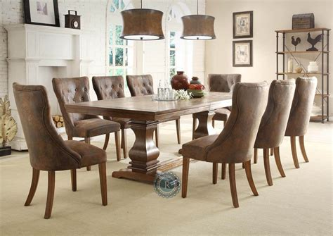 homelegance marie louise 9 piece dining room set in rustic marie louise dining room set from homelegance 2526 96