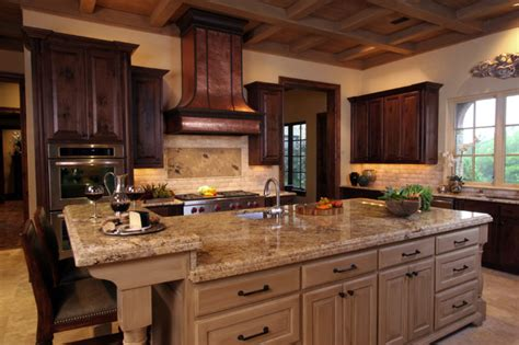 mediterranean kitchen decor natural tuscan inspired kitchen with island