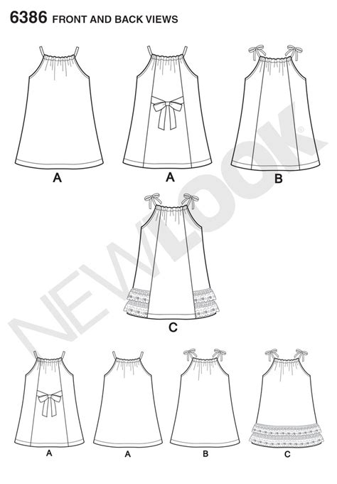 pillowcase dress template new look 6386 toddlers easy pillowcase dresses sewing pattern