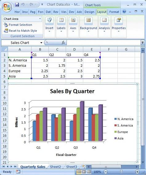 How To Insert An Excel Table Into Word by Inserting Excel Charts Into Powerpoint 2007