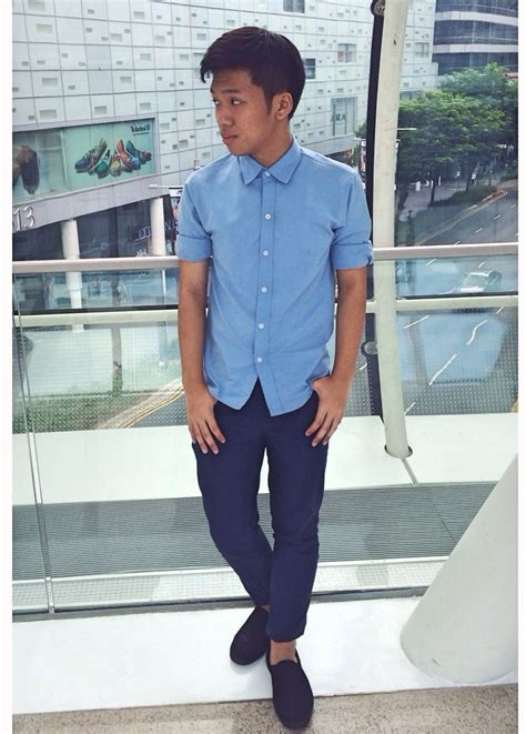 Blue Dress Shirt Black Brown Shoes by Light Shoes Oasis Fashion