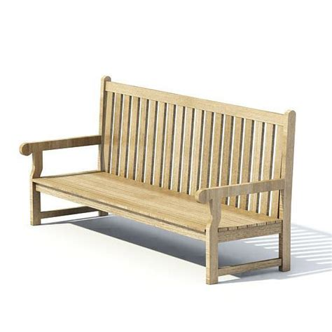 bench 3d model wooden park bench 3d model cgtrader com
