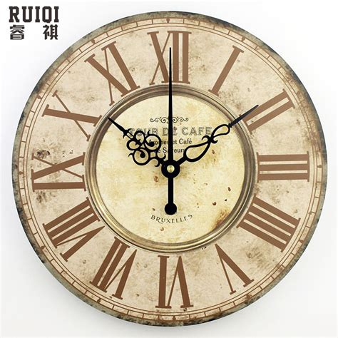 living room wall clocks home decor absolutely mute quartz wall clock retro roman