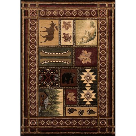 Log Cabin Area Rugs Cabin Chalet Area Rugs
