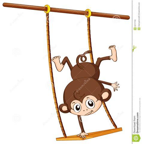 swing illustration monkey and swing stock vector image 50117159