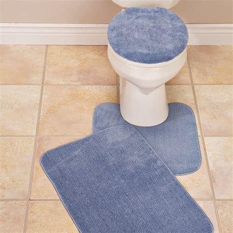 plush bath rug set toilet seat cover and rug set