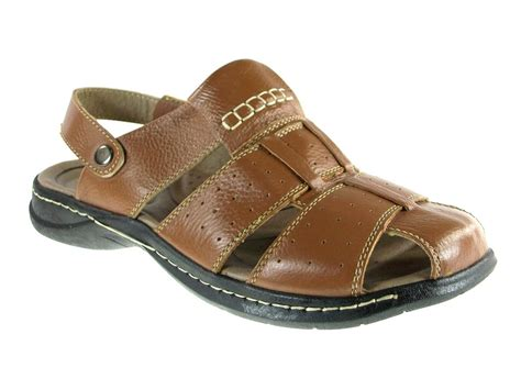 covered toe sandals mens fishermen leather back covered toe comfort
