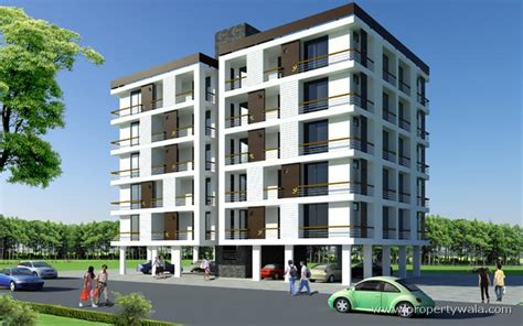 Floor Plan 3 Storey Commercial Building by Iscon Flowers Bopal Ahmedabad Apartment Flat