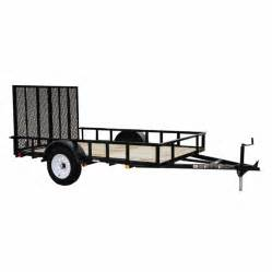 shop carry on trailer 5 ft x 10 ft treated lumber utility trailer with gate at lowes com