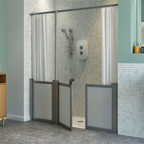 Reduced Height Shower Door Typical Shower Door Height Reduced Height Lakes 700x1750 Semiframed Bi Fold Shower Door Silver