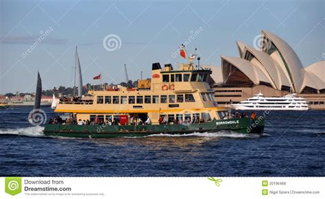 house boat sydney sydney harbour ferry boat australia editorial stock photo