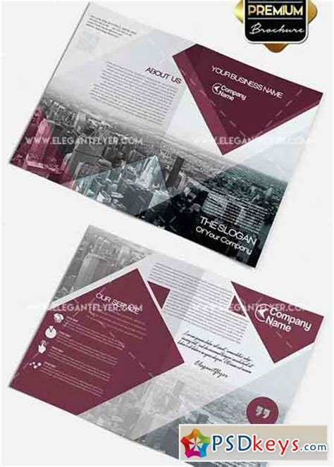 two fold brochure template psd business v2 premium bi fold psd brochure template 187 free
